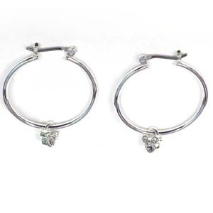 Disney Earrings Hoops And Crystal Mickey Mouse